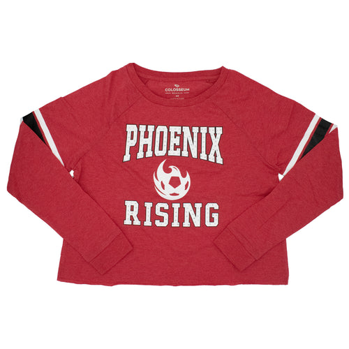 Phoenix Rising Women's Colosseum Whimsical Long Sleeve Tee - Red