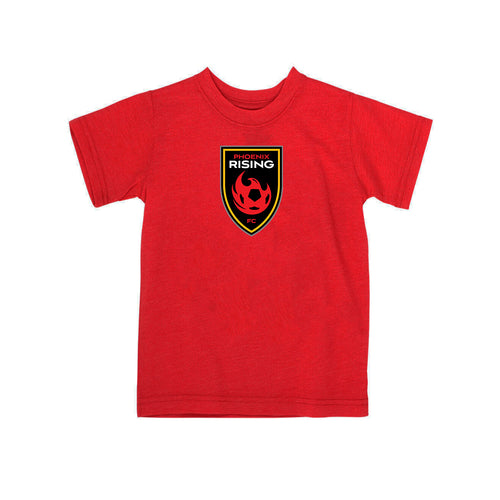 Phoenix Rising Toddler Shield Logo Tee - Red