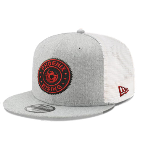 Phoenix Rising Circle Patch New Era Trucker 9FIFTY - Heather