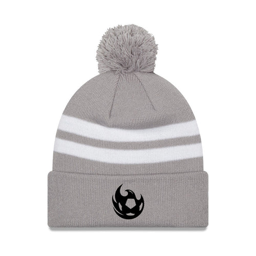 Phoenix Rising New Era Ball Stripe Pom Knit - Gray
