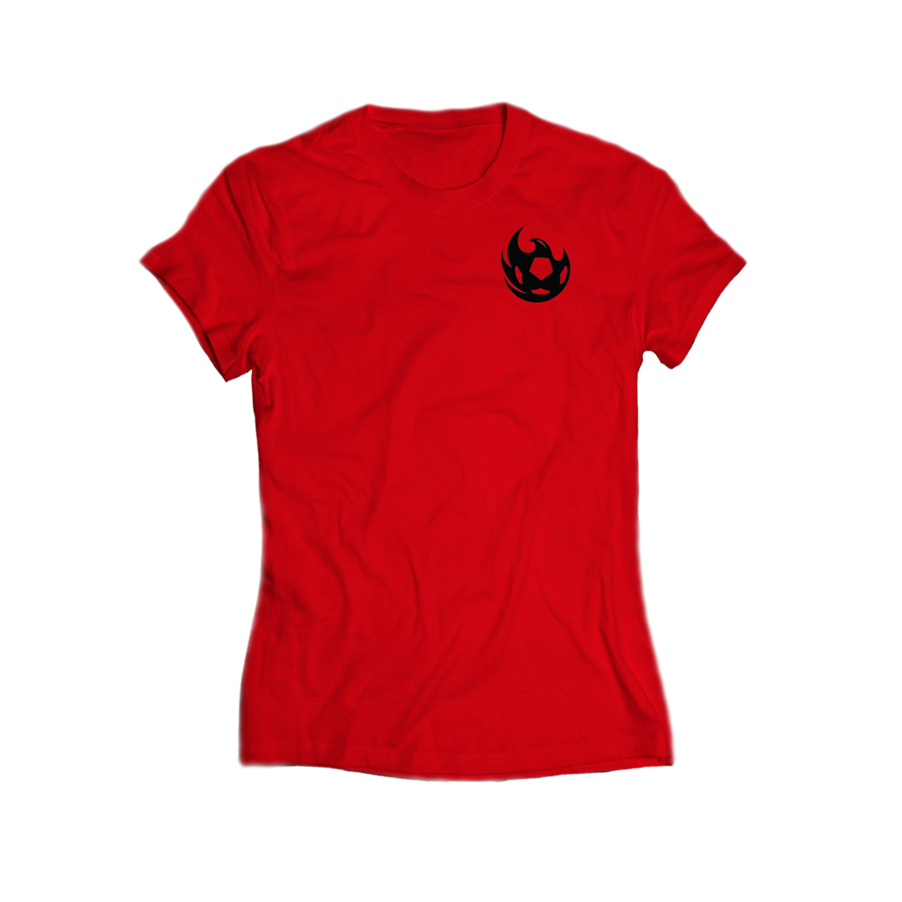 Phoenix Rising Women's State Forty Eight Mini Ball Logo Tee - Red