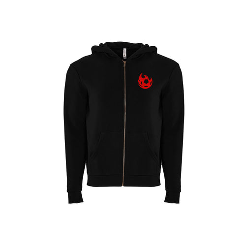 Phoenix Rising Youth Full Zip Hoodie - Black