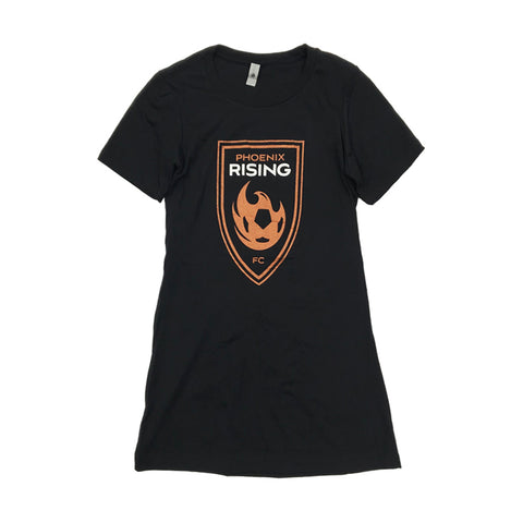 Phoenix Rising Women's State Forty Eight White State Logo Tee - Black