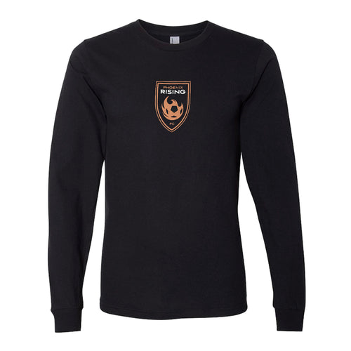 Phoenix Rising Copper Logo Long Sleeve Tee - Black