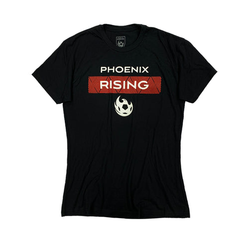 Phoenix Rising Women's On The Pitch Tee - Black
