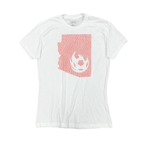 Phoenix Rising Women's Zoozatz White Stripe Knotted Tee - Red