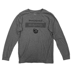 Phoenix Rising On The Pitch Long Sleeve Tee - Gray