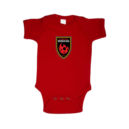 Phoenix Rising Infant Kimball Concepts Rising Shield Onesie - Red