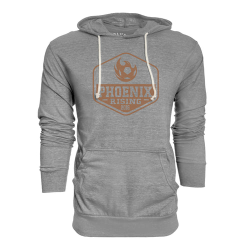 Phoenix Rising Men's Blue 84 High Spirits Triblend Hooded Long Sleeve - Heather