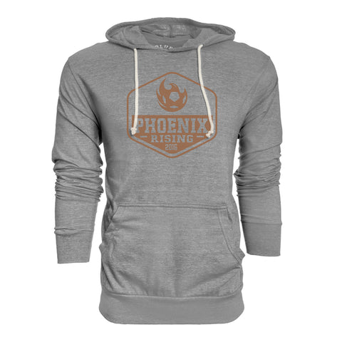 Phoenix Rising Motorcycle Patch Pullover Hoodie - Black