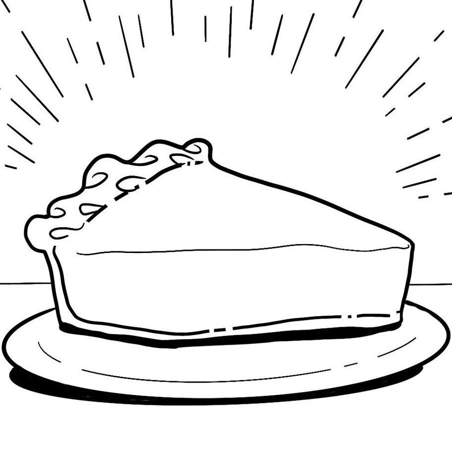 Pie Bar Coloring Sheet - Printable!