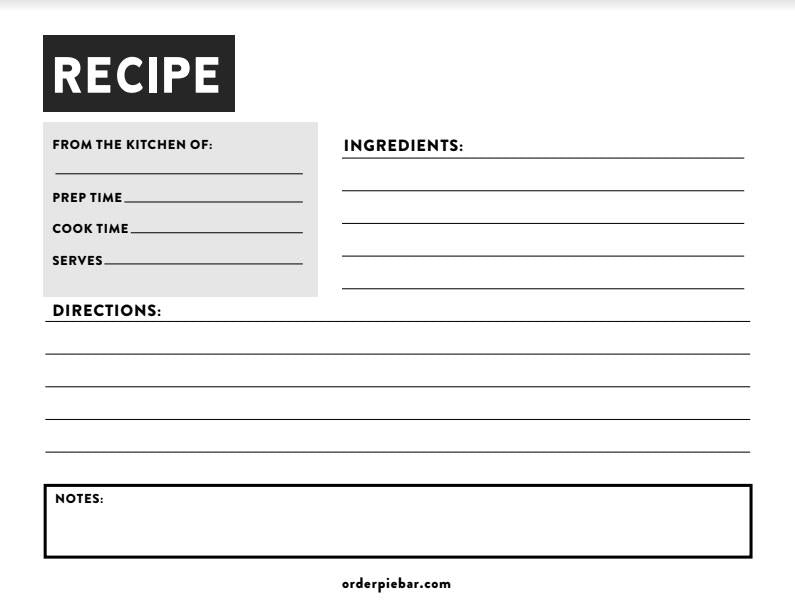 This is a photo of Dynamic Free Recipe Cards by Mail