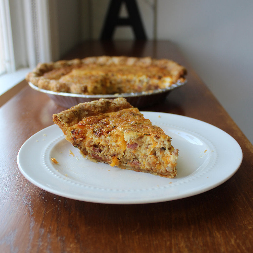 Bacon, Cheddar & Chives Quiche (Take and Bake)