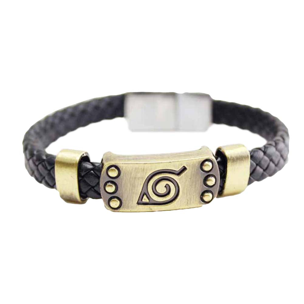 Naruto - Konoha Honor Leather Wristband