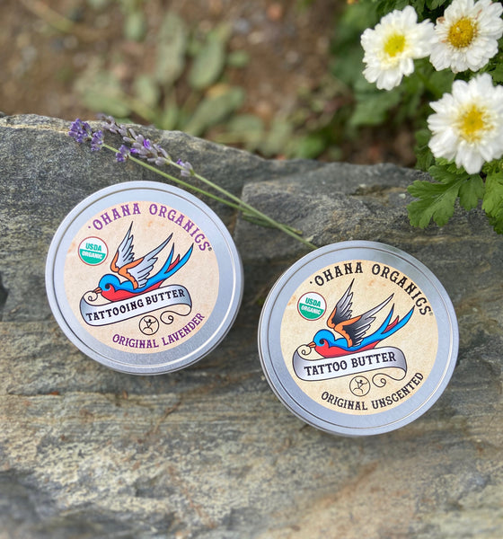 Tattoo Butter Ointment - 6 oz Large - Tin (Unscented & Lavender)