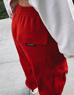 Red Cargo Sweatpants