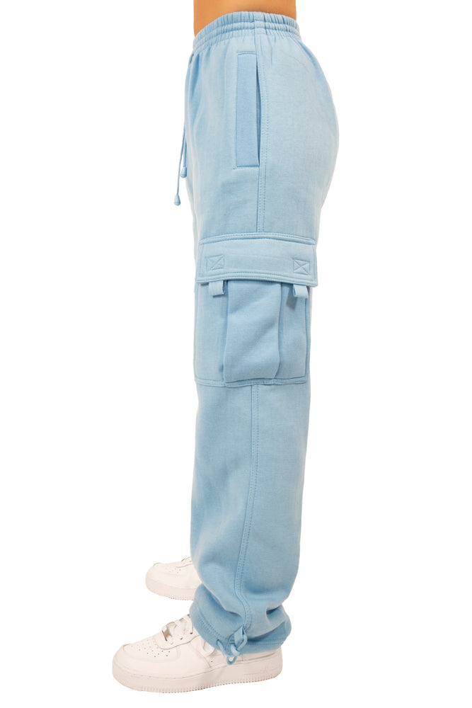 Baby Blue Cargo Sweatpants