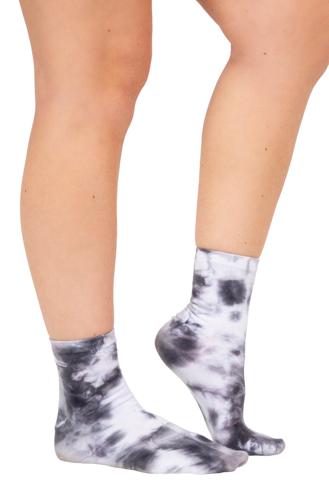 Black & White Tie Dye Socks