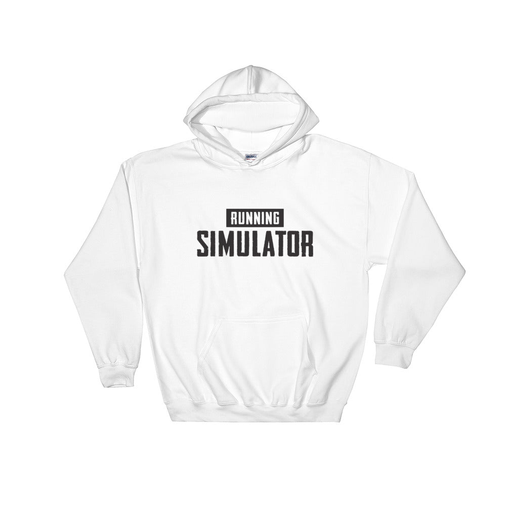 Running Simulator - Hooded Sweatshirt White/Grey