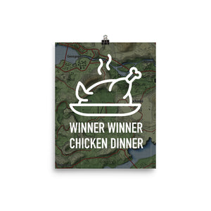 Winner Winner Chicken Dinner map - Poster