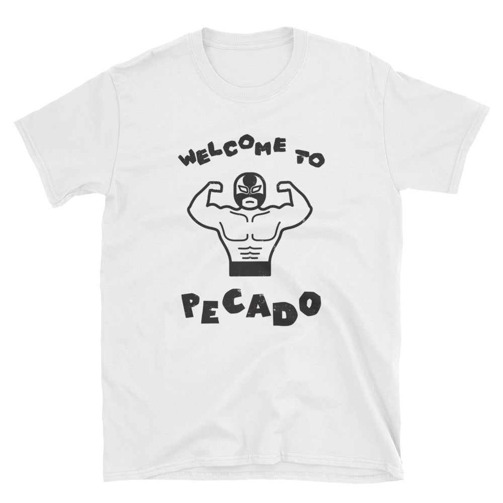 Welcome to Pecado - Short-Sleeve Unisex T-Shirt White