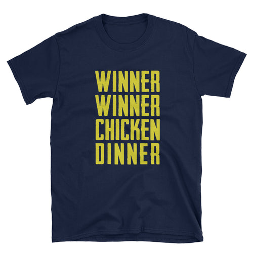 Winner Winner Chicken Dinner (Gold) - Short-Sleeve Unisex T-Shirt