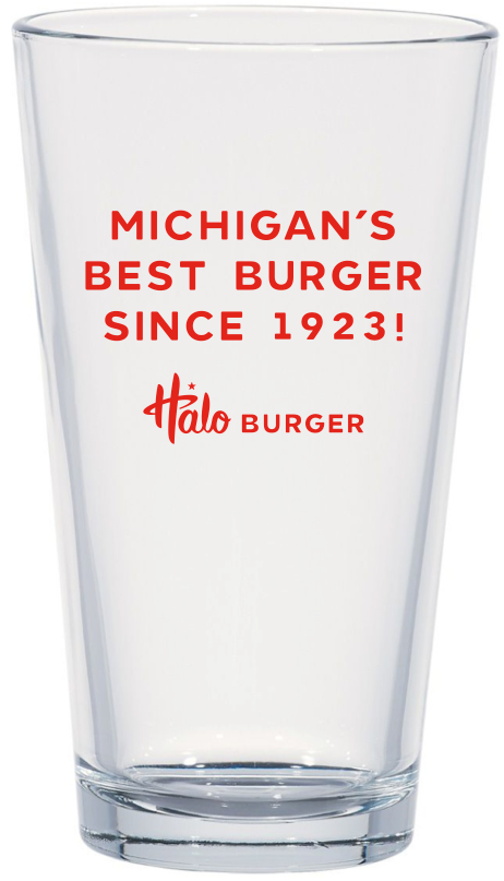 'Michigan's Best Burger' Glassware