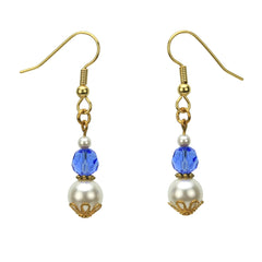 Gold September Birthstone Earrings