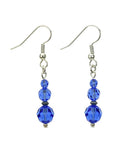 Sapphire Three Bead Birthstone Earrings