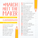 March Meet The Maker Challenge 2019