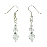 Crystal Three Bead Birthstone Earrings