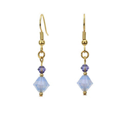 Air Blue Opal & Tanzanite Gold Earrings
