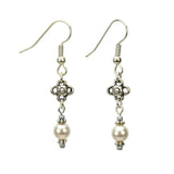 Pearl and Flower June Birthstone Earrings