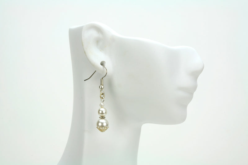 Silver June Birthstone Earrings