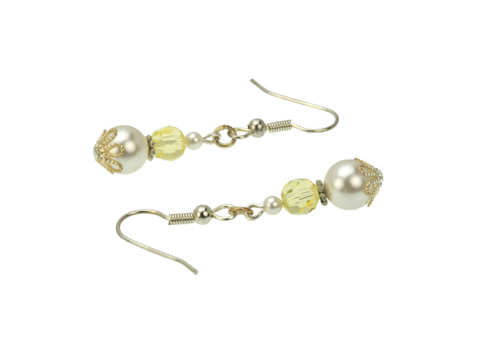 Silver November Birthstone Earrings