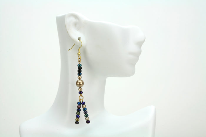Multicolor Magic Gold Earrings