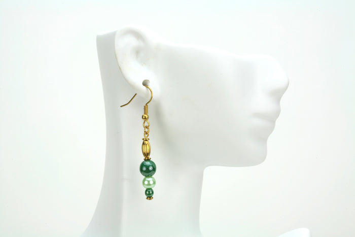 Shades of Green Gold Earrings