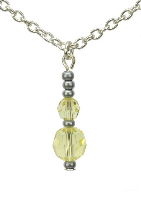 Double Jonquil Silver November Birthstone Pendant