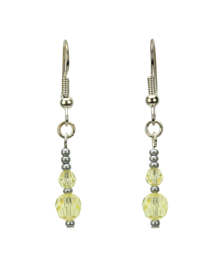 Double Jonquil Silver November Birthstone Earrings