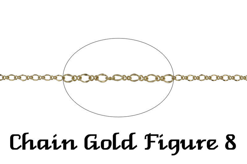 Gold Figure 8 Chain