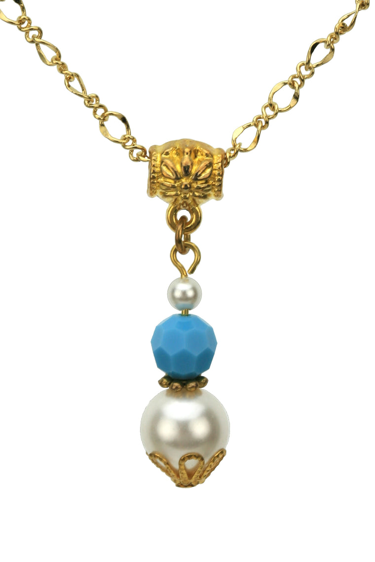 Gold December Birthstone Pendant