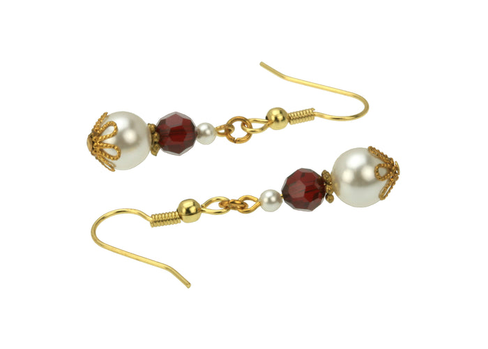 Gold January Birthstone Earrings