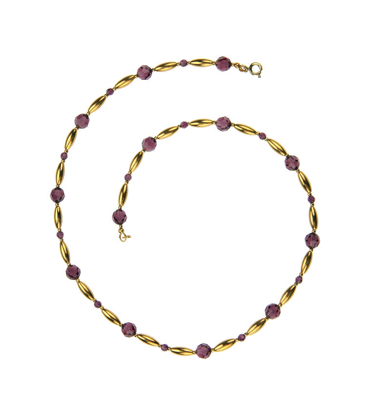 Stunning Amethyst and Gold Necklace