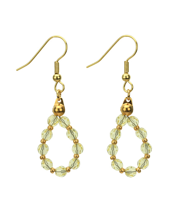 Gold November Jonquil Birthstone Earrings