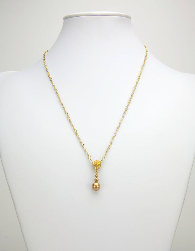 Bright Gold Pearl Gold Pendant