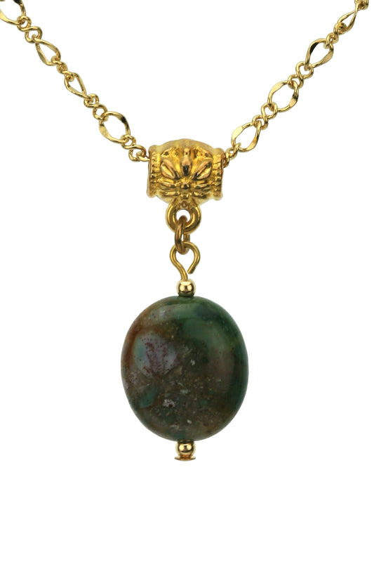 Fancy Jasper Gold Pendant