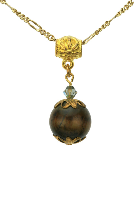 Tiger-Eye Gold Pendant