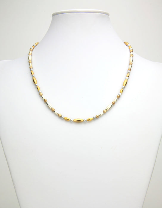 Gold and Silver Gold Necklace