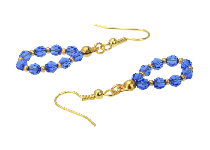Gold September Sapphire Birthstone Earrings