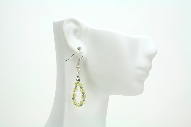 Silver November Jonquil Birthstone Earrings